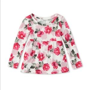 NWT Place Girls Floral Long Sleeve Top Size 5T